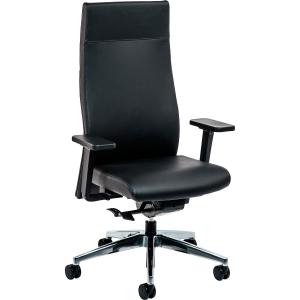 Bürostuhl Prosedia 1F62 Management, hohe Rückenlehne, Leder, schwarz