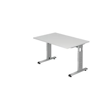 Schreibtisch VOS12-W, verstellbar, Größe: 120 x 80cm, weiß