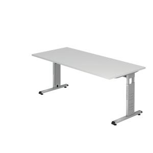 Schreibtisch VOS19-W, verstellbar, Größe: 180 x 80cm, weiß