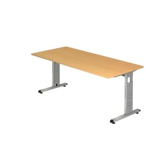Schreibtisch VOS19-6, verstellbar, Größe: 180 x 80cm, buche