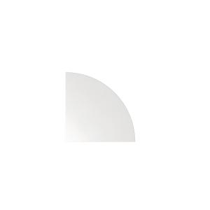 Verkettungsplatte VLE91-W, Eckwinkel, Größe: 80 x 80cm, weiß