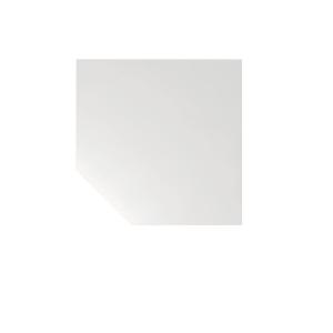 Verkettungsplatte VLT12-W, Trapezplatte mit Stützfuß, Größe: 120 x 120cm, weiß