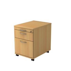 Rollcontainer VAC20-6-6, Registratur, Größe: 59x42,8x58 cm, buche