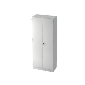 Schrank mit Garderobe, 1 Boden, Maße: 80x200,4x42cm, weiß