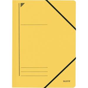 Eckspanner Leitz 3980, A4, aus Karton, Fassungsvermögen: 250 Blatt, gelb