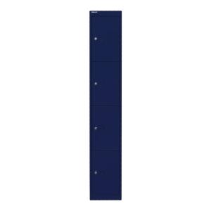 Schließfachschrank Bisley, 4 Fächer, Maße: 1.802 x 305 x 305mm, oxfordblau