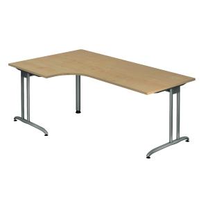 Schreibtisch mit Ecke, Größe: 200 x 120, ahorn, Desktopservice