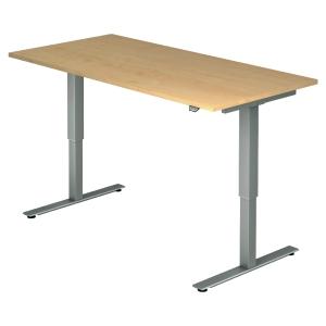 Schreibtisch VXMST16/3/S, höhenverstellbar, Größe: 160x80, ahorn, Desktopservice