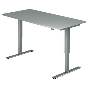 Schreibtisch VXMST16/5/S, höhenverstellbar, Größe: 160x80, grau, Desktopservice