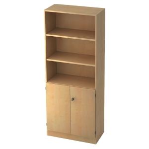 Regal mit kleinen Türen, 2 Böden, Maße: 80x200,4x42cm, ahorn, Desktopservice