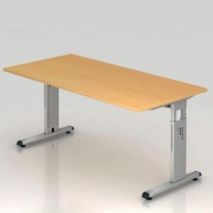 Schreibtisch VOS16-6, verstellbar, Größe: 160 x 80cm, buche, Desktopservice