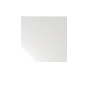Verkettungsplatte VLT12-W, Trapezplatte, Gr.: 120x120cm, weiß, Desktopservice
