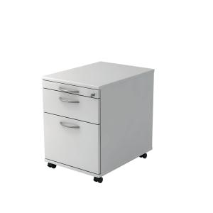 Rollcontainer VAC20-W-W, Registratur, Größe: 59x42,8x58 cm, weiß, Desktopservice