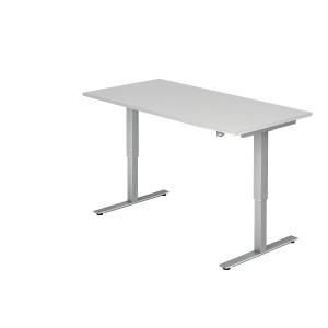 Schreibtisch VXMST16/W/S, höhenverstellbar, Größe: 160x80, weiß, Desktopservice