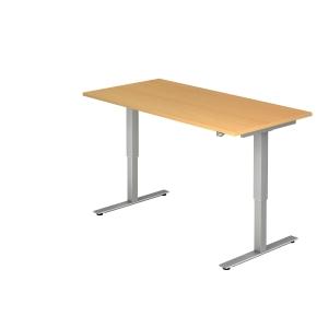 Schreibtisch VXMST16/6/S, höhenverstellbar, Größe: 160x80, buche, Desktopservice