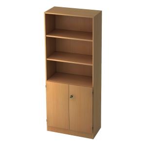 Regal mit kleinen Türen, 2 Böden, Maße: 80x200,4x42cm, buche, Desktopservice
