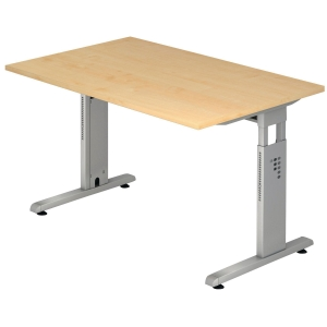 Schreibtisch VOS12-3, verstellbar, Größe: 120 x 80cm, ahorn, Montageservice