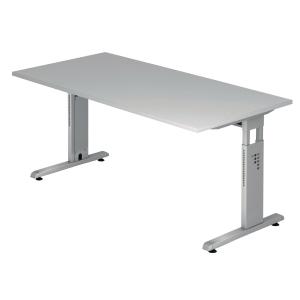 Schreibtisch VOS19-5, verstellbar, Größe: 180 x 80cm, grau, Montageservice
