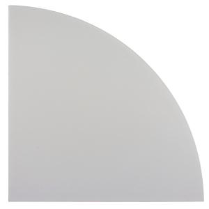 Verkettungsplatte VBE91-5, Eckwinkel, Größe: 80 x 80cm, grau, Montageservice
