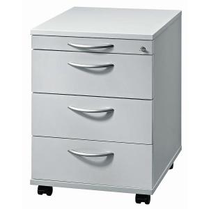 Rollcontainer VAC30-5-5, 3 Schübe, Größe: 59x42,8x58 cm, grau, Montageservice