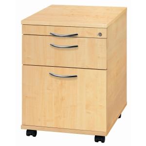 Rollcontainer VAC20-3-3, Registratur, Größe: 59x42,8x58 cm, ahorn, Montageservi.
