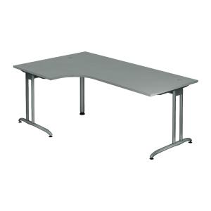 Schreibtisch mit Ecke, Größe: 200 x 120, grau, Montageservice