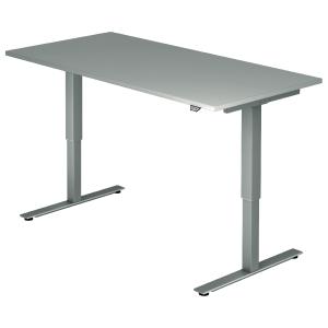 Schreibtisch VXMST16/5/S, höhenverstellbar, Größe: 160x80, grau, Montageservice