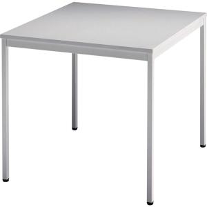 Konferenztisch VVS08/5, Größe: 80 x 80 cm (L x B), grau Montageservice