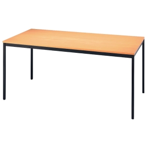 Konferenztisch VVS16/6, Größe: 160 x 80 cm (L x B), buche Montageservice