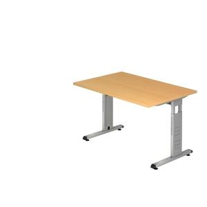 Schreibtisch VOS12-6, verstellbar, Größe: 120 x 80cm, buche, Montageservice