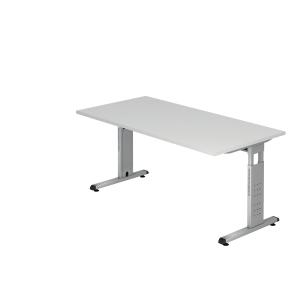 Schreibtisch VOS16-W, verstellbar, Größe: 160 x 80cm, weiß, Montageservice