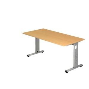 Schreibtisch VOS16-6, verstellbar, Größe: 160 x 80cm, buche, Montageservice