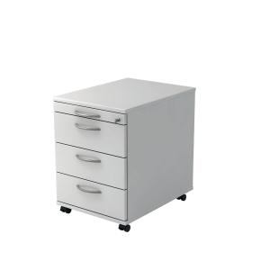 Rollcontainer VAC30-W-W, 3 Schübe, Größe: 59x42,8x58 cm, weiß, Montageservice