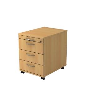 Rollcontainer VAC30-6-6, 3 Schübe, Größe: 59x42,8x58 cm, buche, Montageservice
