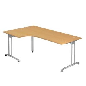 Schreibtisch mit Ecke, Größe: 200 x 120, buche, Montageservice