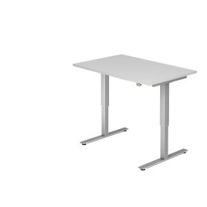 Schreibtisch VXMST12/W/S, höhenverstellbar, Größe: 120x80, weiß, Montageservice