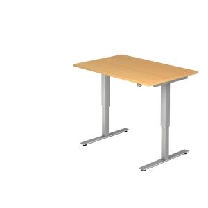 Schreibtisch VXMST12/6/S, höhenverstellbar, Größe: 120x80, buche, Montageservice