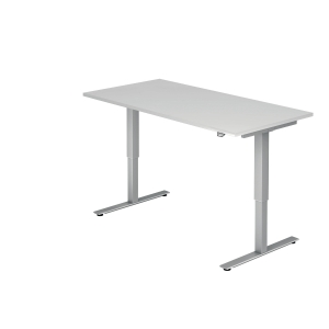 Schreibtisch VXMST16/W/S, höhenverstellbar, Größe: 160x80, weiß, Montageservice