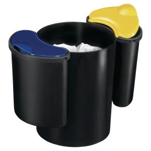 Papierkorb CEP 516, Fassungsvermögen: 16 Liter, Mülltrennung, schwarz