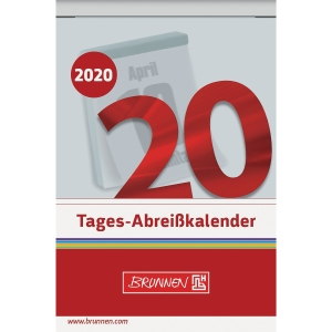 Tagesabreißkalender 2019 Brunnen 70304, 1 Tag / 1 Seite, 6,5x10cm