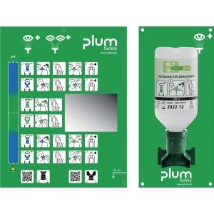 Wandstation Plum 4611, 500 ml Augenspühlflasche