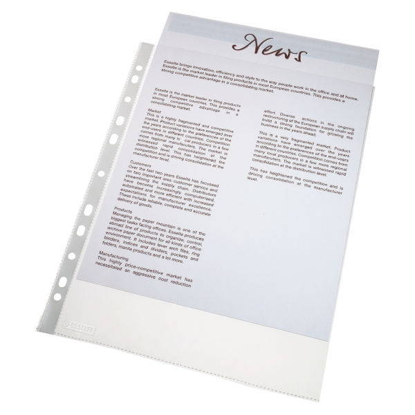 100 Stück Prospekthülle A4 Glasklar Stärke 0,06 mm