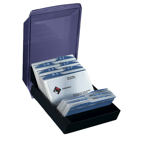 Rolodex Covered 12 Part A Z Indexed Business Card File 200