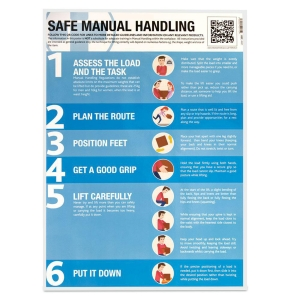 SAFE MANUAL HANDLING GUIDANCE POSTER