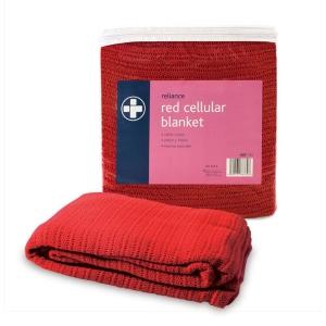 CELLULAR BLANKET RED