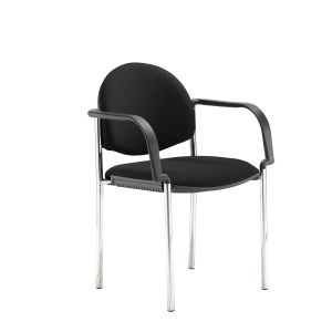 Coda Multi-Purpose Stacking Chair With Arms Black
