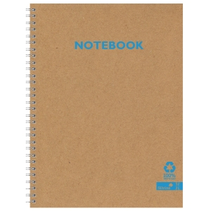 Silvine Kraft Recycled Twinwire Notebook A4