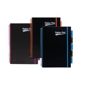 Pukka Pad Neon Project Book A4 Asst - Pack Of 3
