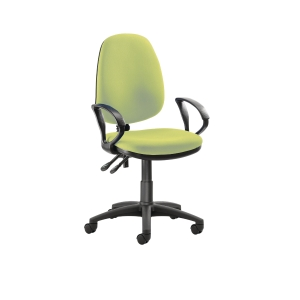 Origin High Back Operators Chair w/Arms Green
