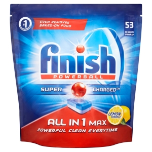 FINISH LEMON ALL-IN-1 MAX POWERBALL DISHWASHER TABLETS- PACK OF 53